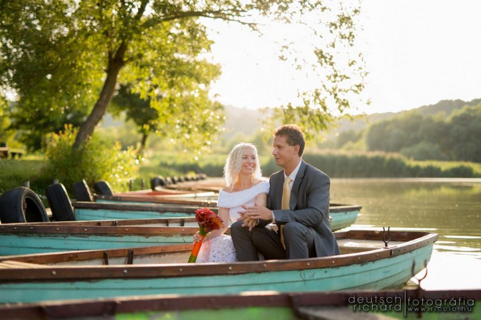 Esküvői kreatív fotózás: Edina és Gergely