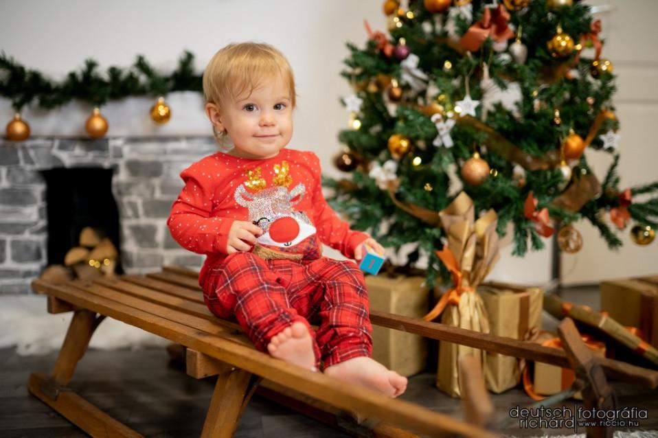 Heléna karácsonyi fotózása