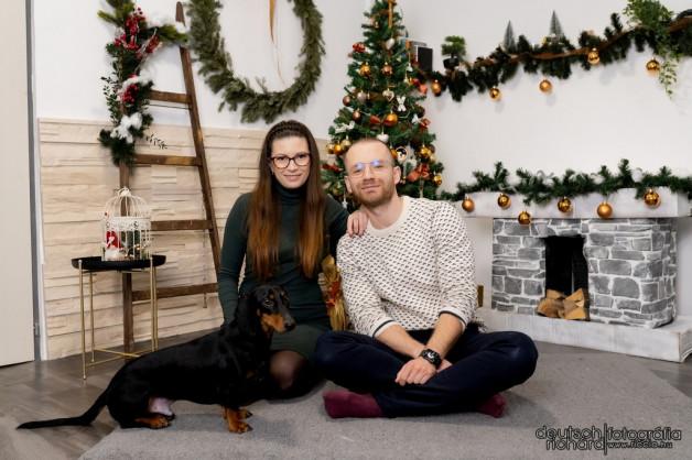 Bea és Sanyi karácsonyi fotózása