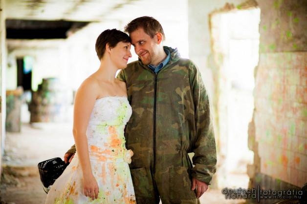 Angéla és Zoltán Paintball – Trash The Dress
